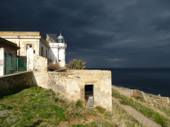 The lighthouse at Capo Gallo, Sicily