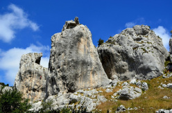 Climbing at Frosolone in Molise, Italy