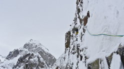 Hansjörg Auer and Much Mayr making the first ascent of Mount Reaper in Alaska