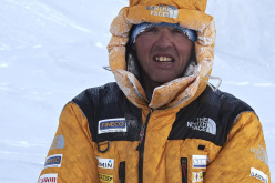 L'alpinista bergamasco Simone Moro