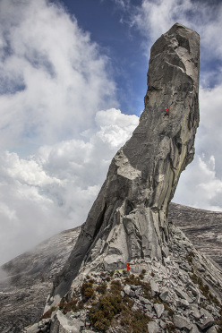 Yuji Hirayama and Sachi Amma climb new routes on Mt Kinabalu in Borneo