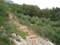 The new access path to Belvedere, Arco