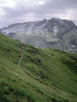 Viel del Pan - View onto Viel del Pan; Marmolada in the background