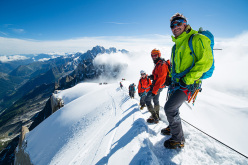 Arc'teryx athlete Maciek Ciesielski with his Advanced Moutaineering Group