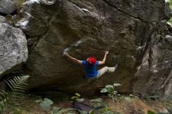 Stella Marchisio climbing