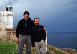 Novembre 2008, Maurizio ed Eugenio alla partenza per
