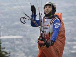 Ha Chi-Kyong (KOR) trains during preparations for the Red Bull X-Alps on Gaisberg, Austria on June 26th 2015