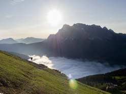 Michael Witschi (SUI3) performs during the Red Bull X-Alps training in Lermoos, Austria on June 7th 2015