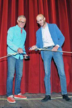 Federico Buranona e Andrea Franceschi durante la serata di apertura della settima edizione di Cortina In Croda.