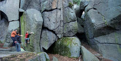 Petrohrad, the best bouldering area in the Czech Republic just 80km west of Prague.