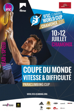 From 10 -12 July 2015 at Chamonix the Lead World Cup 2015 at the European Climbing Championships.