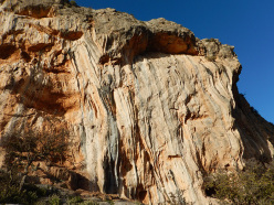 Climbing at Gerovraxo, Leonidio, Greece