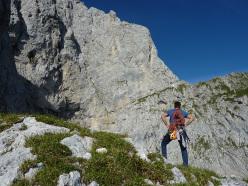 Sulla via Gregis (300m, VII- A1), anche conosciuta come Via Fassi, Parete del Fupù, Presolana Orientale