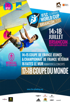 The second stage of the IFSC Climbing World Cup takes place in Briançon (FRA) on 17 - 18 July 2015