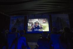 Reinhold Messner alla serata ll Cervino Racconta, durante i festeggiamenti di Cervino 150