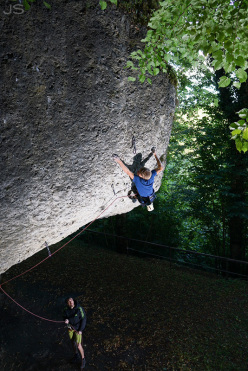 Alexander Megos rocking the Frankenjura, Germany