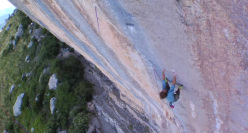 Chris Sharma climbing Three Degrees Of Separation at Ceuse