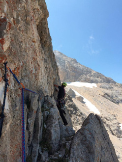 Cristiano Iurisci on the first pitch of grade VI climbing