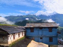 Trekking in Nepal: Annapurna South from the lodges at Gandruk