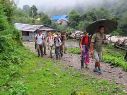 Trekking in Nepal: Annapurna area during the monsoon family trek