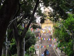 Trekking in Nepal: at Kathmandu we were practically the only Westerners