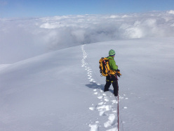 Pablo Criado Toca and the Geants summits: Cogne: Mont Blanc du Tacul with Andrea Plat
