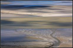 Bassa marea a Mont St. Michel - Francia