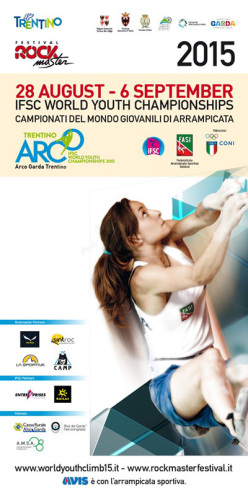 The official program of the IFSC Climbing World Youth Championships that take place from 28 August to 6 September at Arco - Garda Trentino, Italy