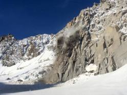 The rockfall on Tour Ronde, Mont Blanc