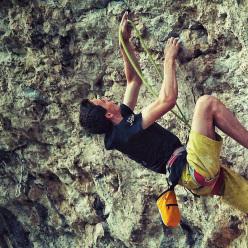 Giorgio Bendazzoli climbing at Covolo (VI)