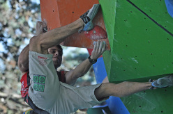 World Youth Climbing Championships: during the Male Boulder Qualifications