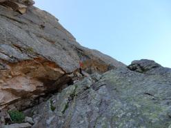 Pilastro Zec (250m, 6a+), Valle dell'Orco (Andrea Barone, Fabio Ventre 07/2015)