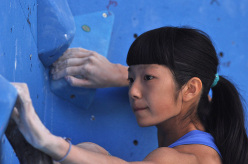 World Youth Climbing Championships: during the Male Boulder Finals, Ashima Shiraishi