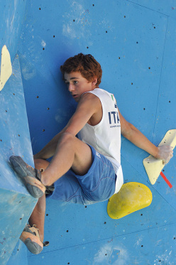 World Youth Climbing Championships: during the Male Boulder Finals, Filip Schenk