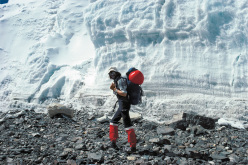 Reinhold Messner, East Rombuk Glacier, Everest North side, 1980