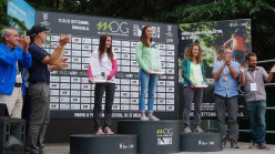 Female podium: 2. Mathilde Becerra 1. Juliane Wurm 3. Claudia Ghisolfi