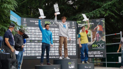 Male podium: 2. Sean McColl 1. Jan Hojer 3. Stefano Ghisolfi
