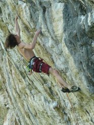 Adam Ondra in action at Covolo.