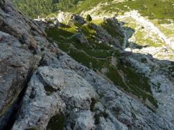 Climbing at Falzarego (Dolomites)