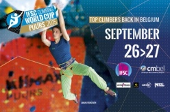 Lead World Cup 2015 at Puurs, Belgium