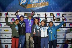 Coppa del Mondo Lead 2015 Puurs: Mina Markovic, Jakob Schubert, Domen Škofic, Jain Kim, Anak Verhoeven, Ramon Julian Puigblanque