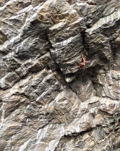 Daniel Woods climbing Thor's Hammer 9a+, Flatanger, Norway
