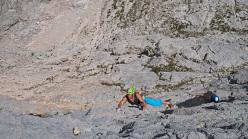 Luca Giupponi climbing pitch 3