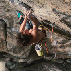 Dave Graham sale Thor's Hammer 9a+ a Flatanger, Norvegia