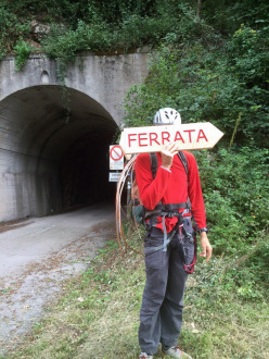 Via ferrata della Memoria, the new via ferrata del Vajont