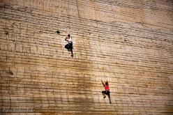 During the 10th edition of L'Acqua e la roccia, the rock climbing meeting at Monteleone Roccadoria (Sardegna)