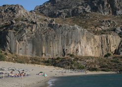 Plakias, the spledid crag in southern Crete, with circa 20 routes from 5a - 8a+.