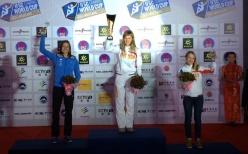 Coppa del Mondo Speed 2015 Wujiang, Cina: Anouck Jaubert (FRA), Mariia Krasavina (RUS), Iuliia Kaplina (RUS)