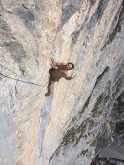 Südwind (X, 250m, Alexander Huber, Guido Unterwurzacher), Maukspitze south face, Wilder Kaiser, Austria