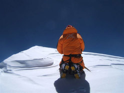 Nives Meroi on the summit of K2